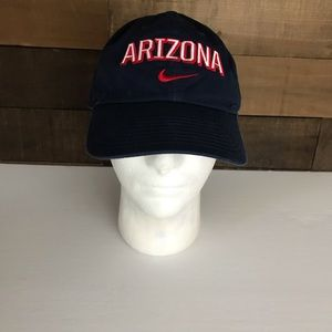 Arizona Nike blue Strapback dad hat Spellout